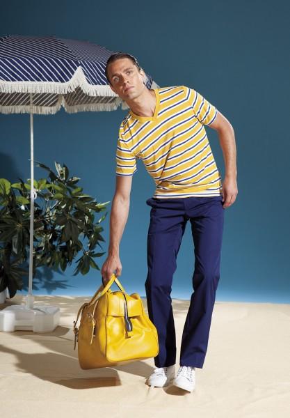 """shirt leroy """"ringel"""" senf/blau"""