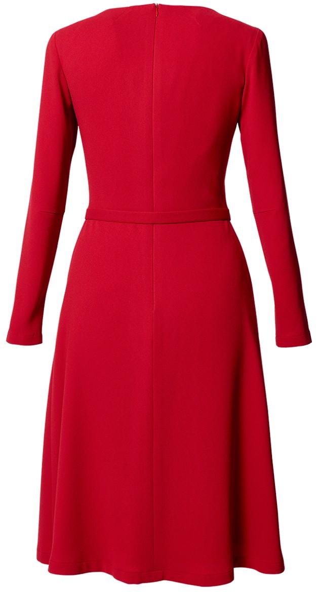 kleid loulou scarlett red