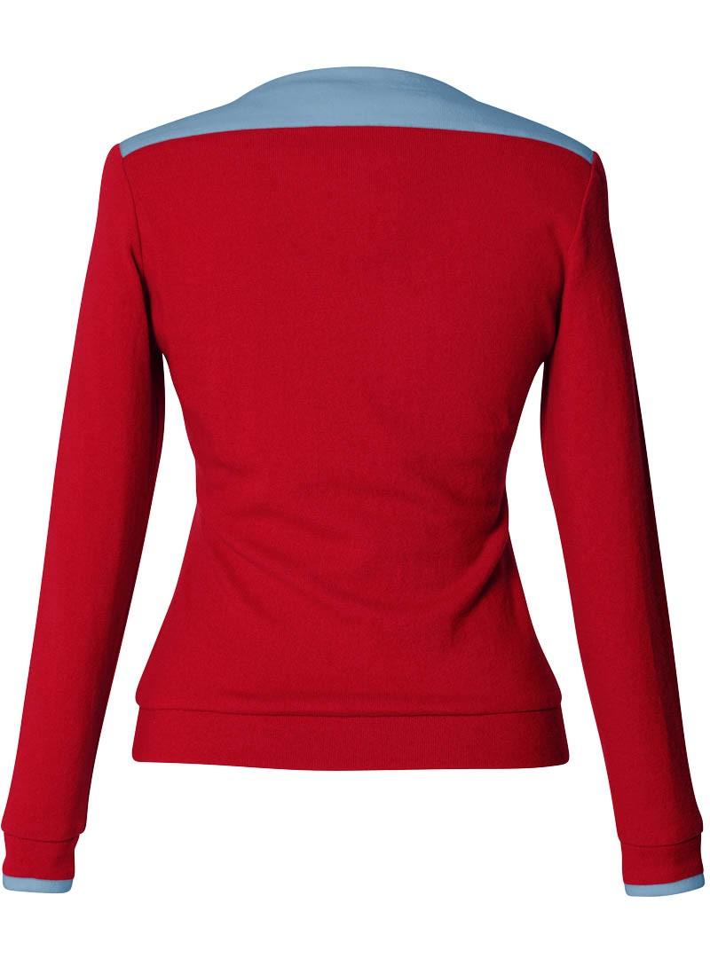 pullover fanny poppy red - arctic blue
