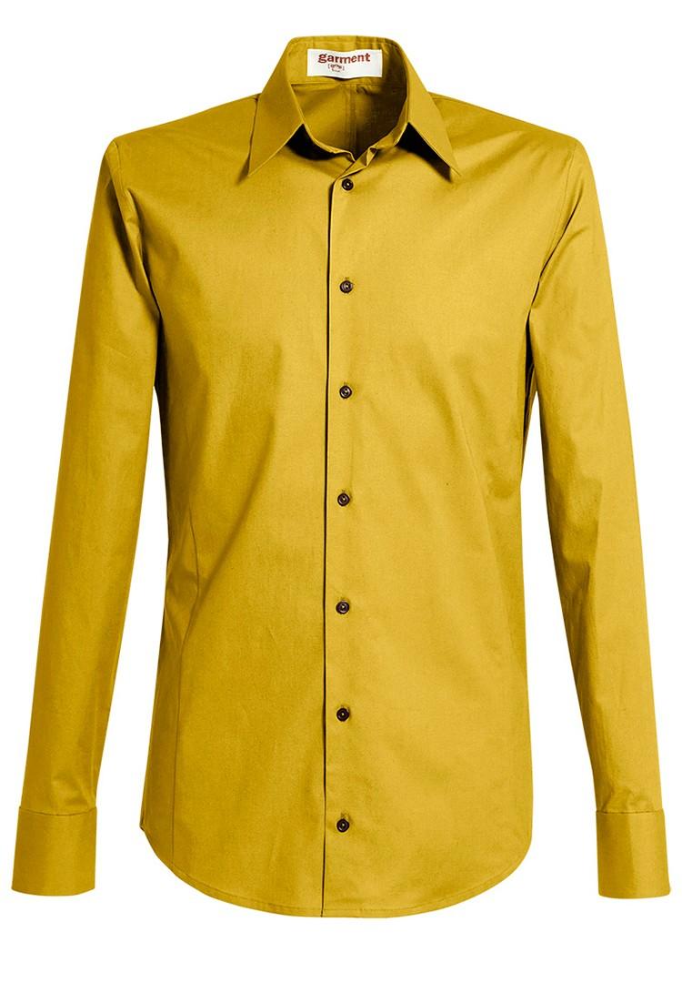 hemd rené yellow moss
