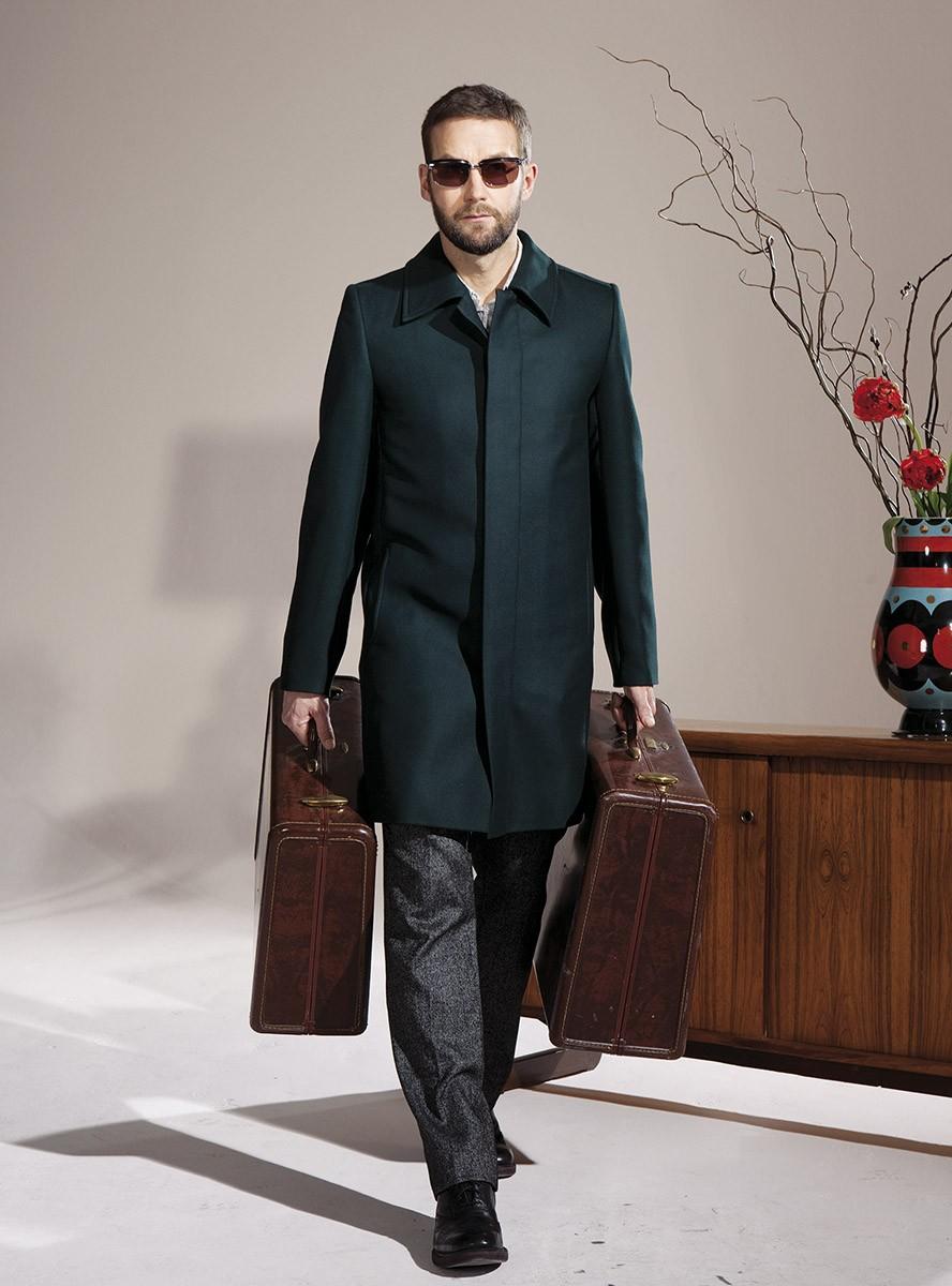 mantel waldemar schwarz-grün