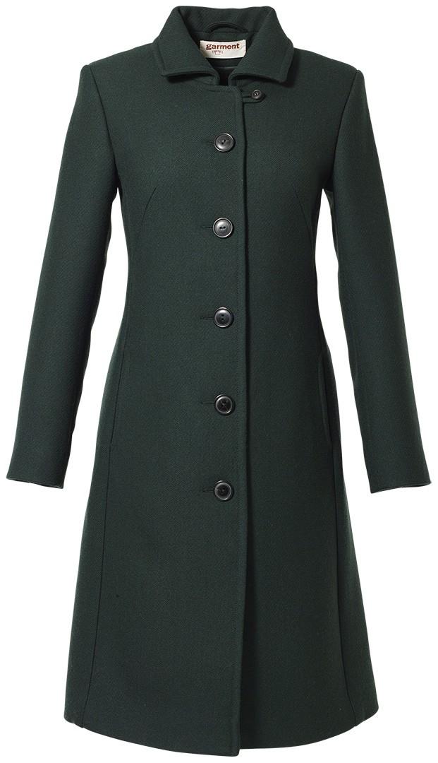 mantel cleo dunkelgrün