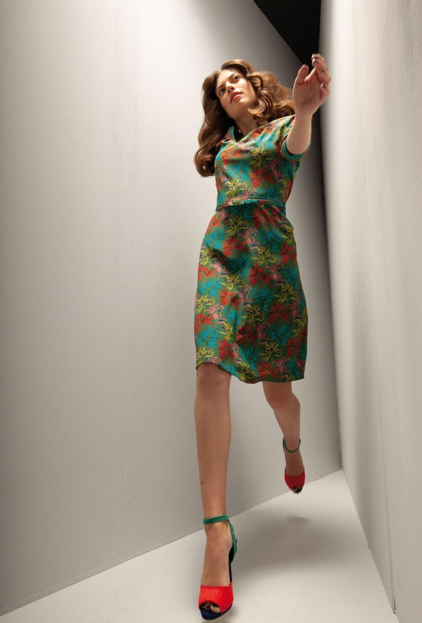 """seidenkleid marlène liberty """"ballroom leaves"""""""