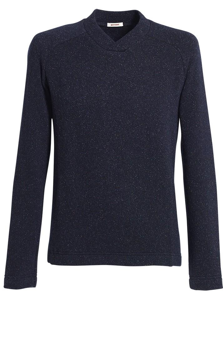 pullover wesley tweedstrick dunkelblau